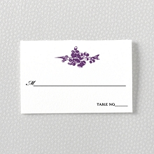 Gothic Rose---Letterpress Place Card