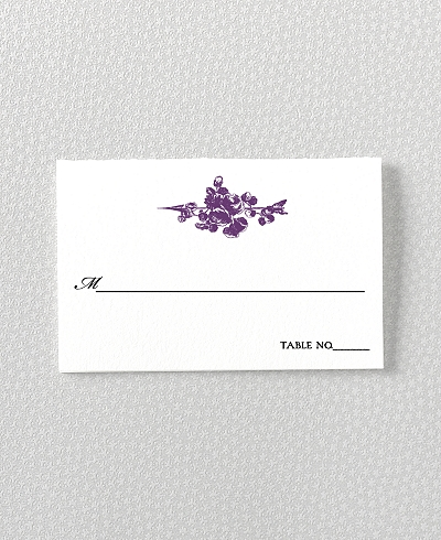 Gothic Rose Place Card