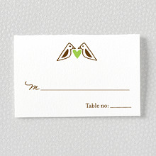 Home Sweet Home: Letterpress Place Card