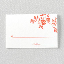 Honeysuckle---Letterpress Place Card