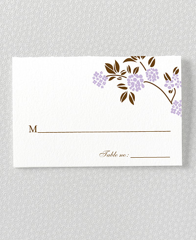 Honeysuckle Place Card