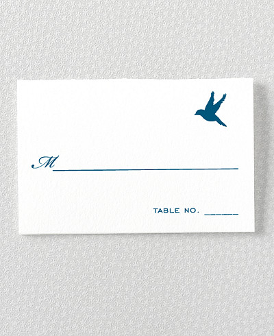 L'Oiseau Letterpress Place Card