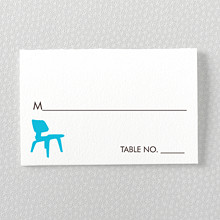 Los Angeles Skyline: Letterpress Place Card