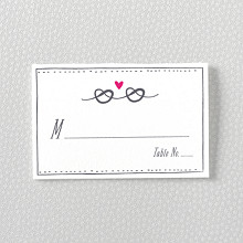 Love Knot - Letterpress Place Card