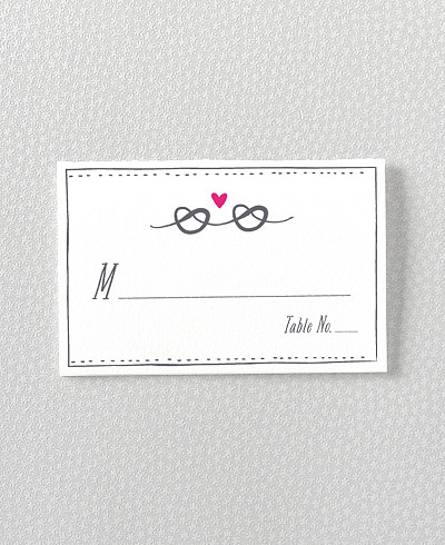 Love Knot Letterpress Place Card