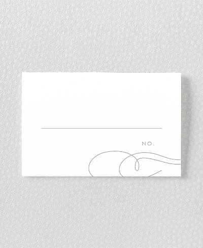 Atlantic Foil/Letterpress Place Card
