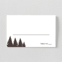 Mountain Skyline: Letterpress Place Card