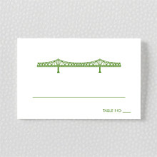 New Orleans Skyline: Letterpress Place Card