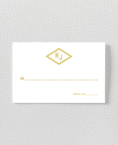 Parker Foil/Letterpress Place Card