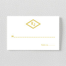 Parker: Foil/Letterpress Place Card