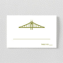 Portland Skyline: Letterpress Place Card