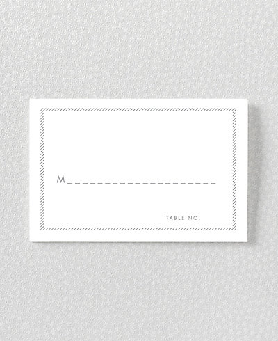 Shooting Star Foil/Letterpress Place Card