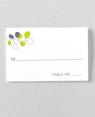 Lunaria Letterpress Place Card