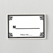 Marquee: Letterpress Place Card