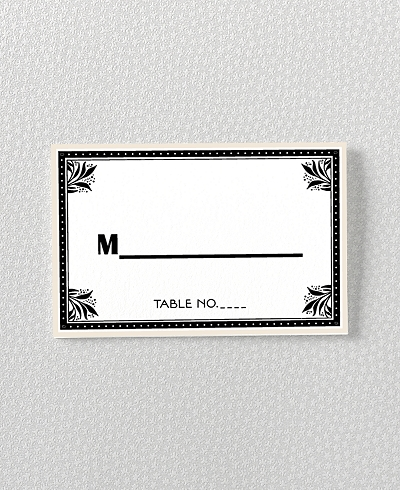 Marquee Letterpress Place Card