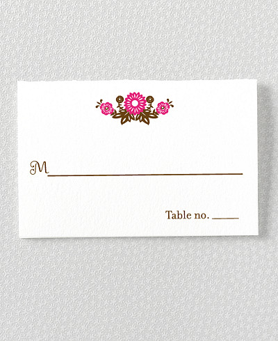 Mi Amor Letterpress Place Card