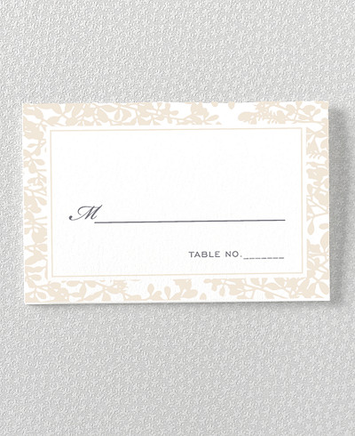 Midsummer Letterpress Place Card