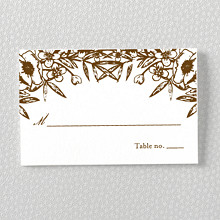 Naturalist - Letterpress Place Card
