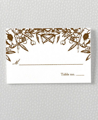 Naturalist Letterpress Place Card