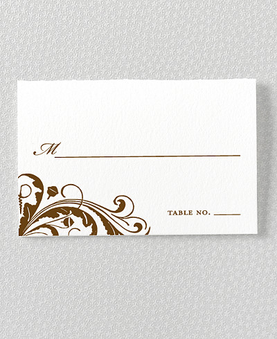 Oak Place Card