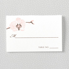 Orchid: Letterpress Place Card