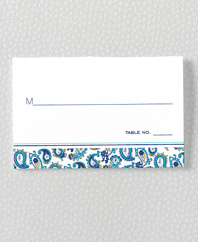 Paisley Place Card