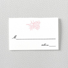 Peonies---Letterpress Place Card