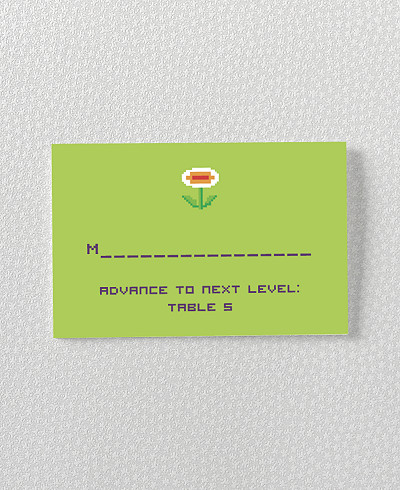 Pixel Perfect Place Card