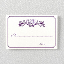 Provence: Letterpress Place Card