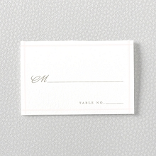 Romantic Garden: Letterpress Place Card