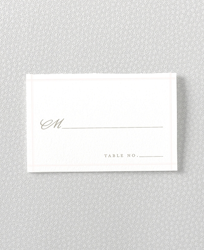 Romantic Garden Place Card