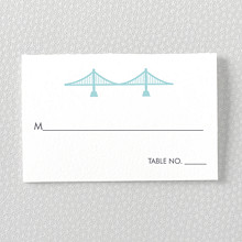 San Francisco Skyline: Letterpress Place Card