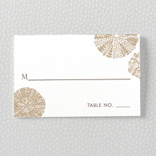 Seashore: Letterpress Place Card