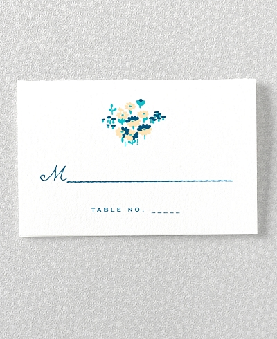 Secret Garden Letterpress Place Card