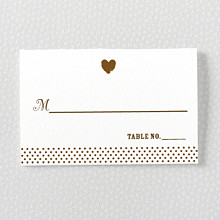 Sweetheart: Letterpress Place Card