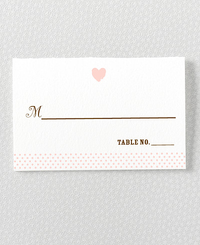 Sweetheart Place Card