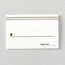 Tahoe: Letterpress Place Card