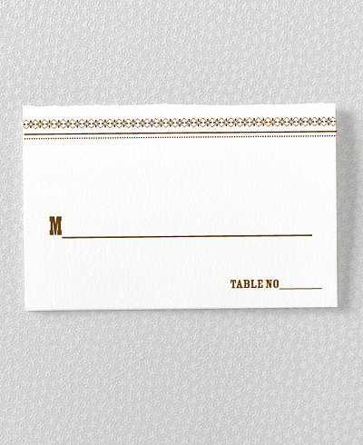 Tahoe Letterpress Place Card