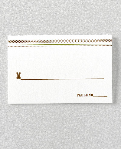 Tahoe Place Card