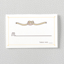 Tie The Knot: Letterpress Place Card