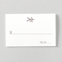 Tuscany - Letterpress Place Card