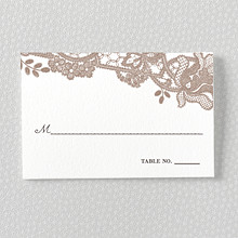 Vintage Lace---Letterpress Place Card