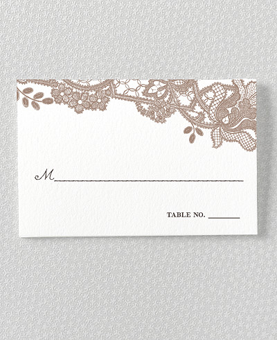 Vintage Lace Place Card