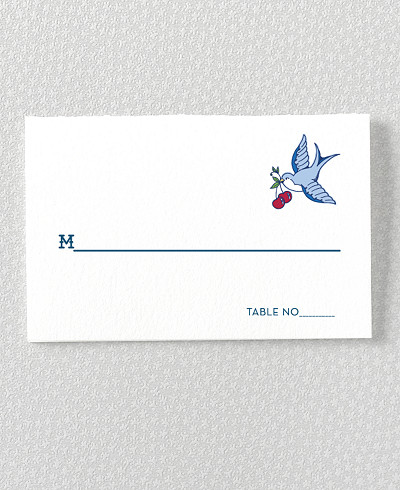 Vintage Tattoo Place Card