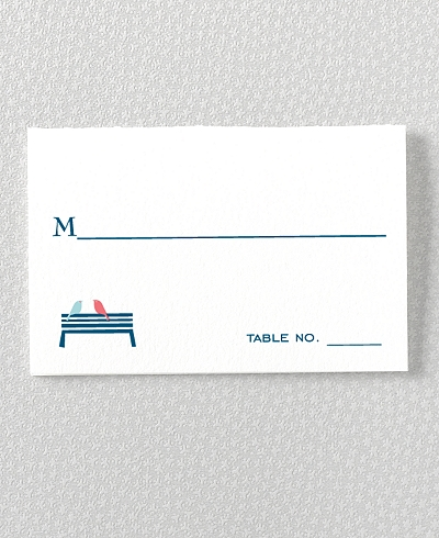 Visit Washington, D.C. Letterpress Place Card