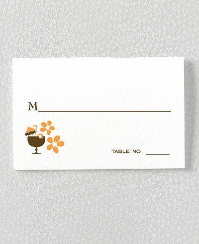 Visit Hawaii Letterpress Place Card