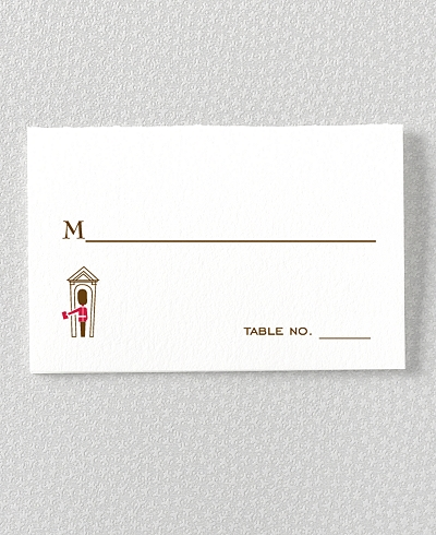 Visit London Letterpress Place Card
