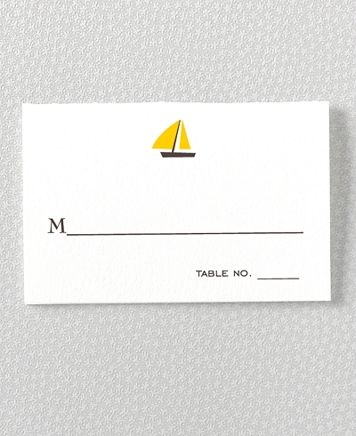 Visit Martha's Vineyard Letterpress Place Card