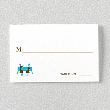 Visit New York: Letterpress Place Card