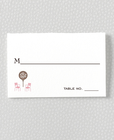 Visit Paris Letterpress Place Card